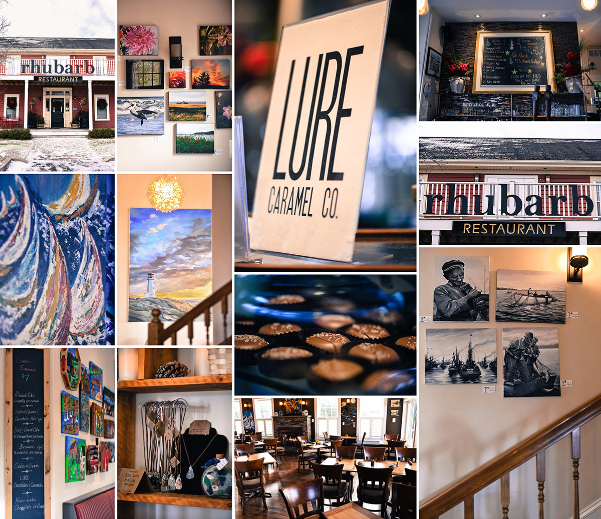 Lure Chocolates, Rhubarb Restaurant and Gallery